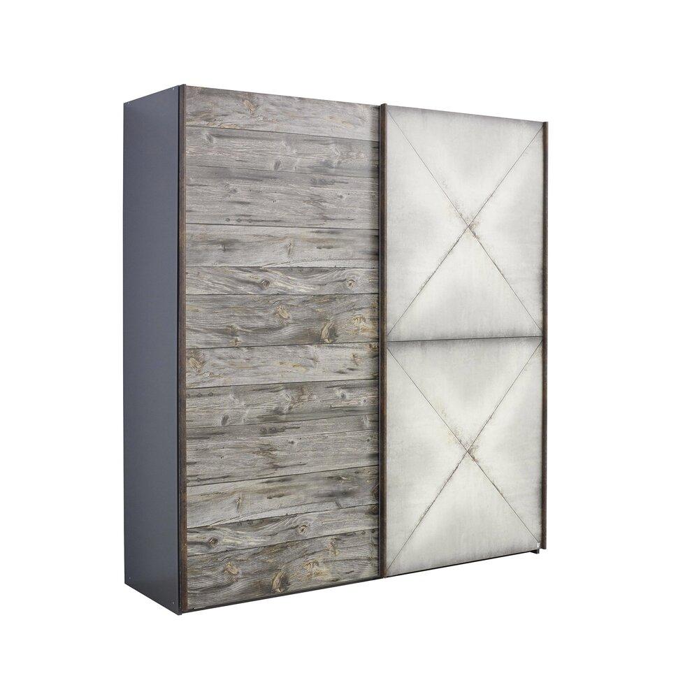 Armoire - Armoire 2 portes coulissantes 201x69x223 cm - CHICAGO photo 1