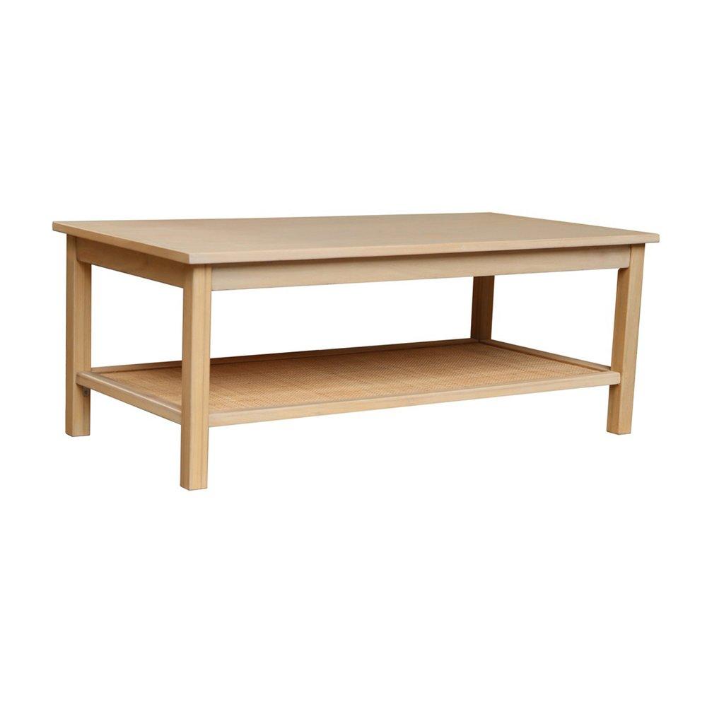 Table basse - Table basse double plateau en pin et cannage naturel - CHLOE photo 1