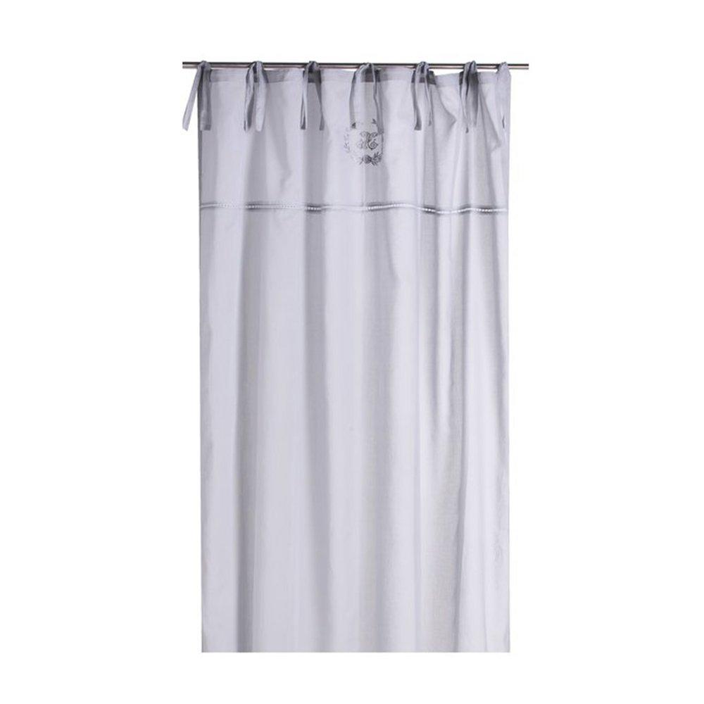 Rideaux - Rideau à œillets 135x250 cm en voile gris clair - CASTLE photo 1