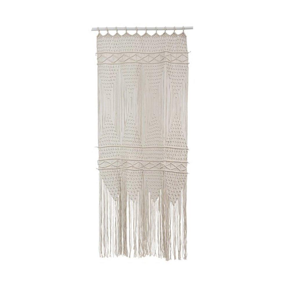 Rideaux - Rideau 90x200 cm en coton macramé blanc photo 1
