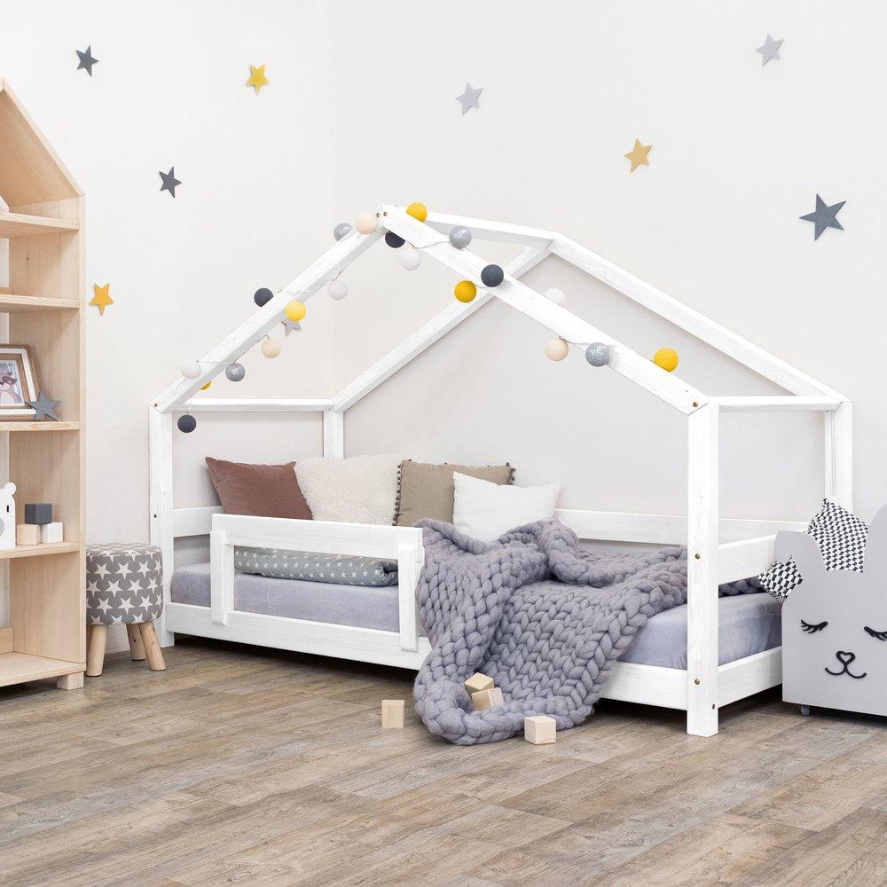 Lit enfant - Lit cabane 90x200 cm en épicéa blanc - CABI photo 1