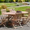 Meuble de jardin - Table ovale extensible 120/180x90 photo 4