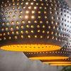 Luminaire - Suspension industrielle 4 lampes coniques 130x150 cm en métal noir photo 4