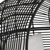 Fauteuil - Fauteuil boule 117x110x151 cm en métal noir - KYOTO photo 3