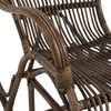 Fauteuil - Rocking chair 95x56x86 cm en rotin marron photo 5