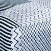 Fauteuil - Fauteuil 73x64x128 cm en tissu noir et argent photo 5