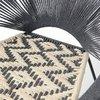 Meuble de jardin - Fauteuil 70x72x76 cm en corde gris foncé et métal - VALDI photo 3