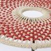 Table basse - Table basse ronde 50 cm en corde rouge et métal - VALDI photo 2