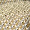 Fauteuil - Fauteuil 66x62x71 cm en tissu ocre et beige photo 3