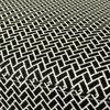 Fauteuil - Fauteuil 68x66,5x66,5 cm en tissu noir et blanc - FOSTER photo 3