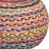 Pouf - Pouf rond 40x30 cm en jute multicolore photo 2