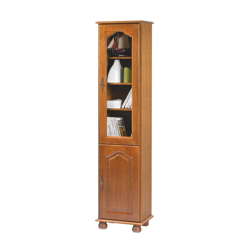 Biblioth que 2 portes ch ne rustique maison et styles for Meuble bureau quimper