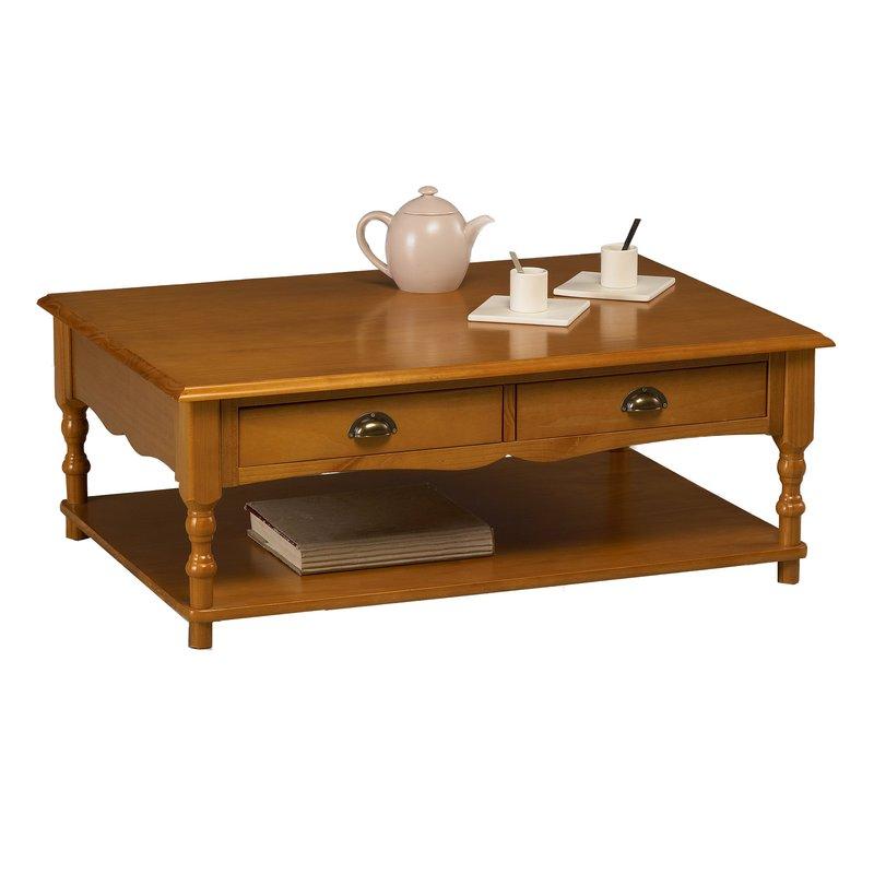 Table Basse Pin Miel Rectangle De Style Anglais Maison Et Styles