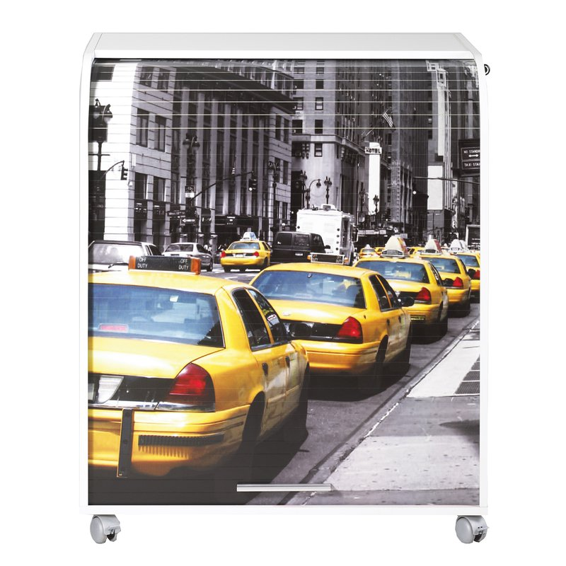 Meuble info rideau coulissant taxi blanc maison et styles for Meuble bureau rideau coulissant