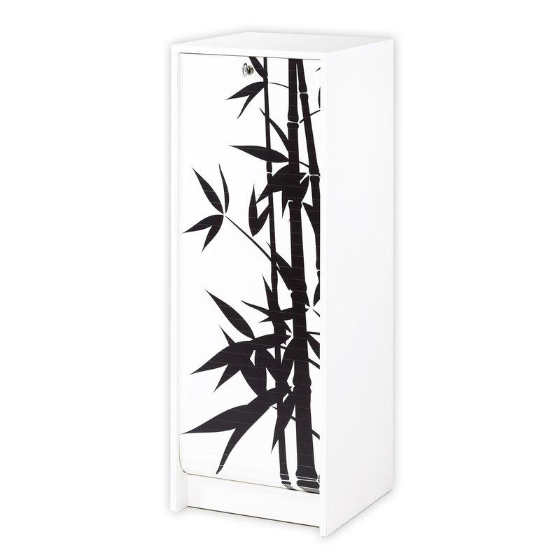 classeur rideau blanc bambou maison et styles