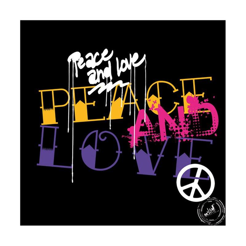 Cadre en plexi 50x50 peace and love maison et styles - Cadre photo 50x50 ...