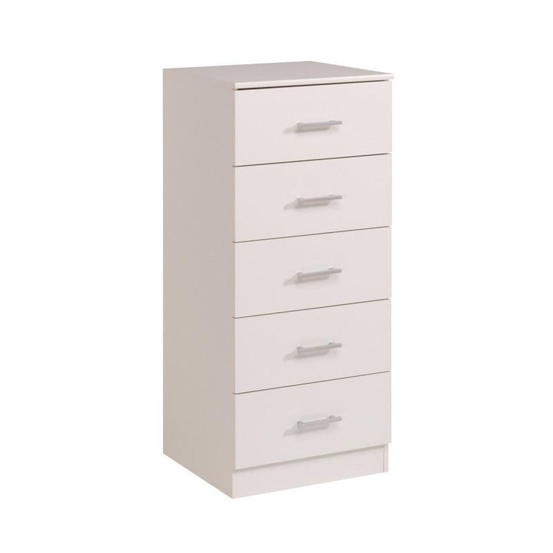 Commode - Coiffeuse - Commode 5 tiroirs 48x44x110cm coloris blanc photo 1
