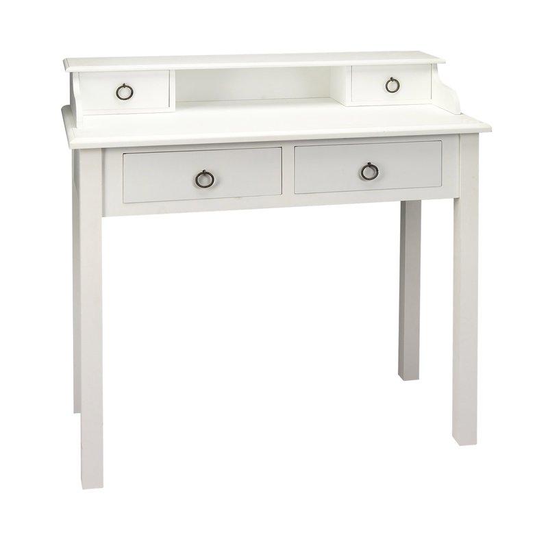 bureau blanc 85 x 40 x 90 cm leonie maison et styles