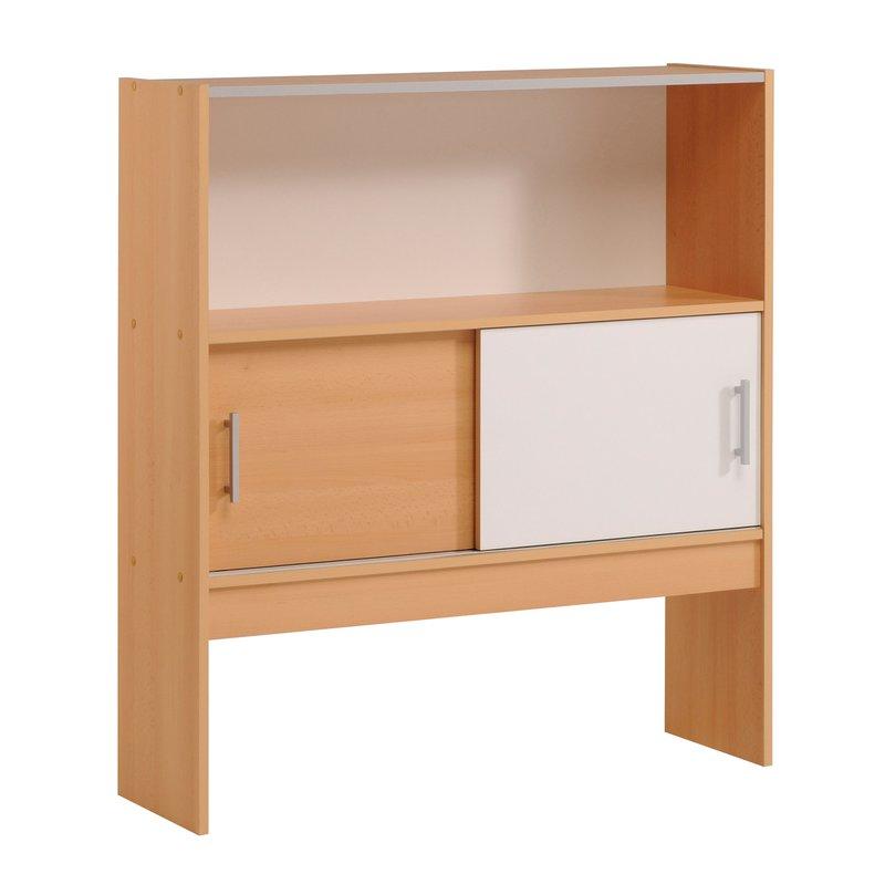 environnement de lit 98x28x108cm coloris h tre et blanc. Black Bedroom Furniture Sets. Home Design Ideas