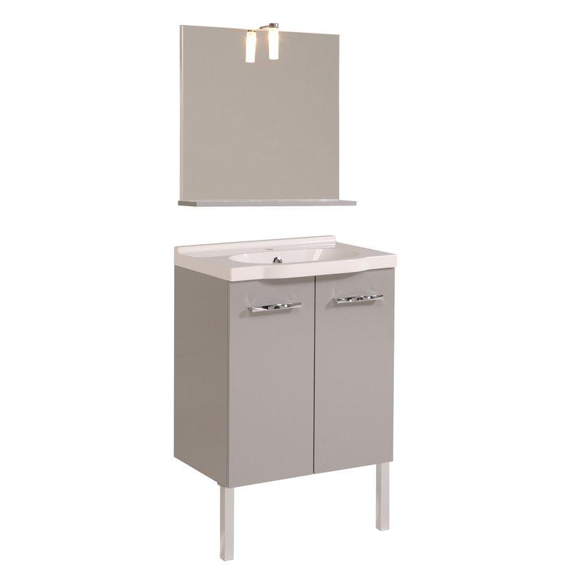 miroir vasque meuble sous vasque coloris gris maison et styles. Black Bedroom Furniture Sets. Home Design Ideas
