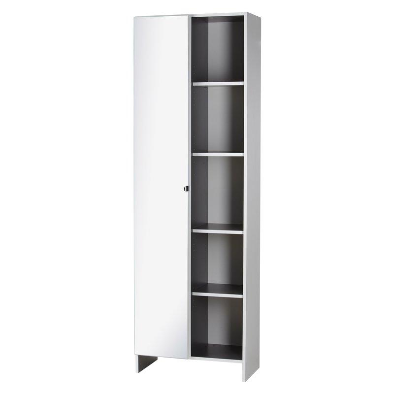 armoire 59x31x185cm coloris blanc maison et styles. Black Bedroom Furniture Sets. Home Design Ideas