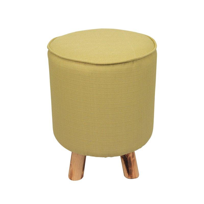 pouf avec pieds en bois coloris vert clair baltic maison et styles. Black Bedroom Furniture Sets. Home Design Ideas