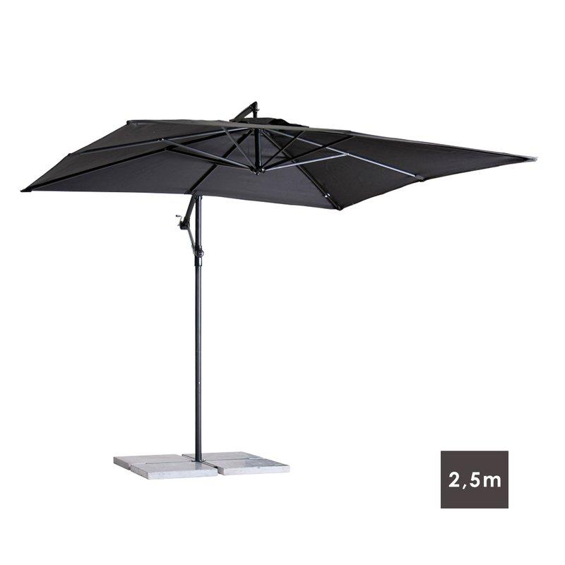 parasol d port carr 2 5m coloris noir maison et styles. Black Bedroom Furniture Sets. Home Design Ideas