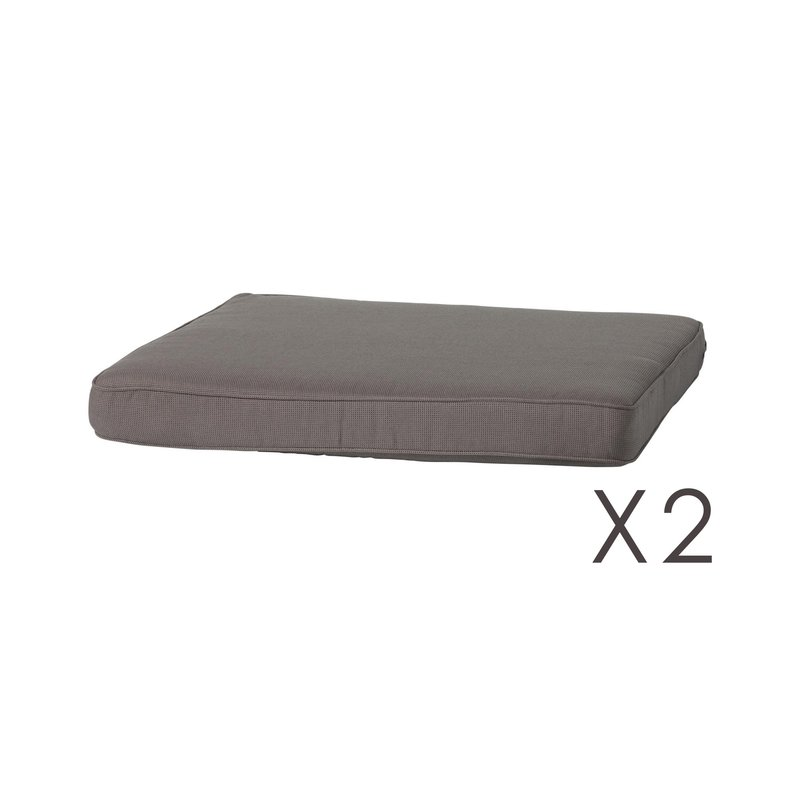 Lot de 2 coussins d 39 assise extra plats salon plein air for Coussin d assise exterieur