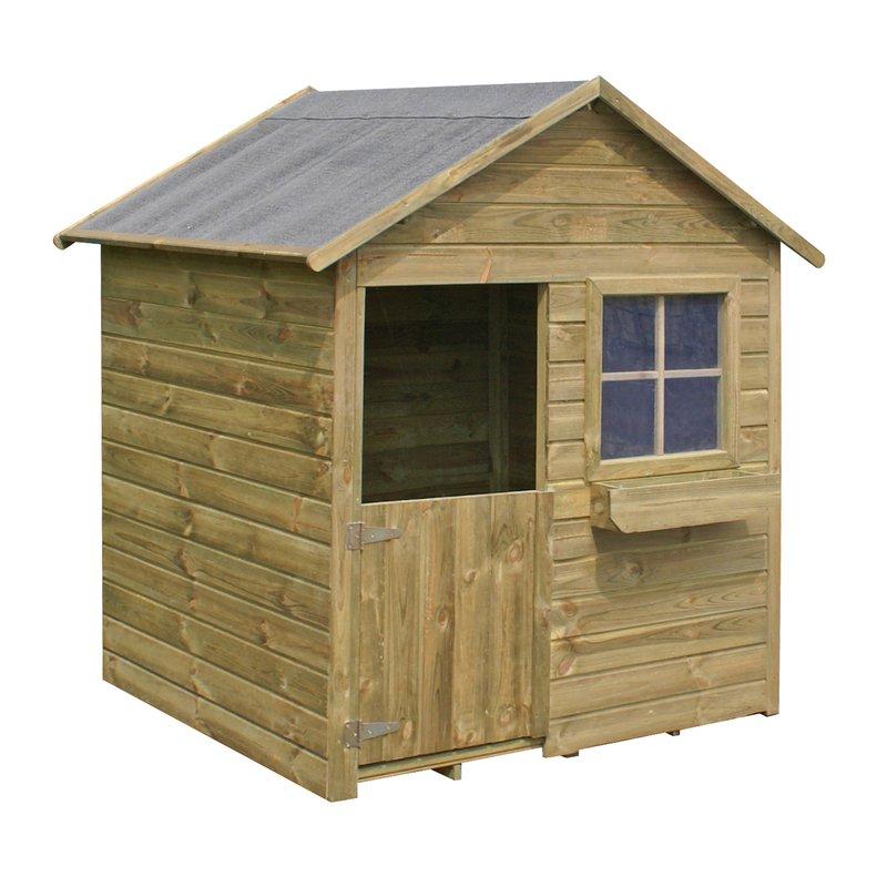maison de jardin en bois coccinelle 126x112x148cm maison et styles. Black Bedroom Furniture Sets. Home Design Ideas