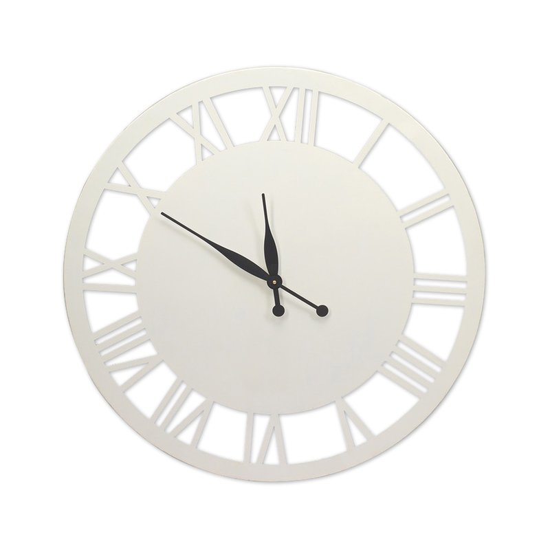 Horloge ronde 76cm en fer coloris blanc joep maison et styles for Horloge en fer
