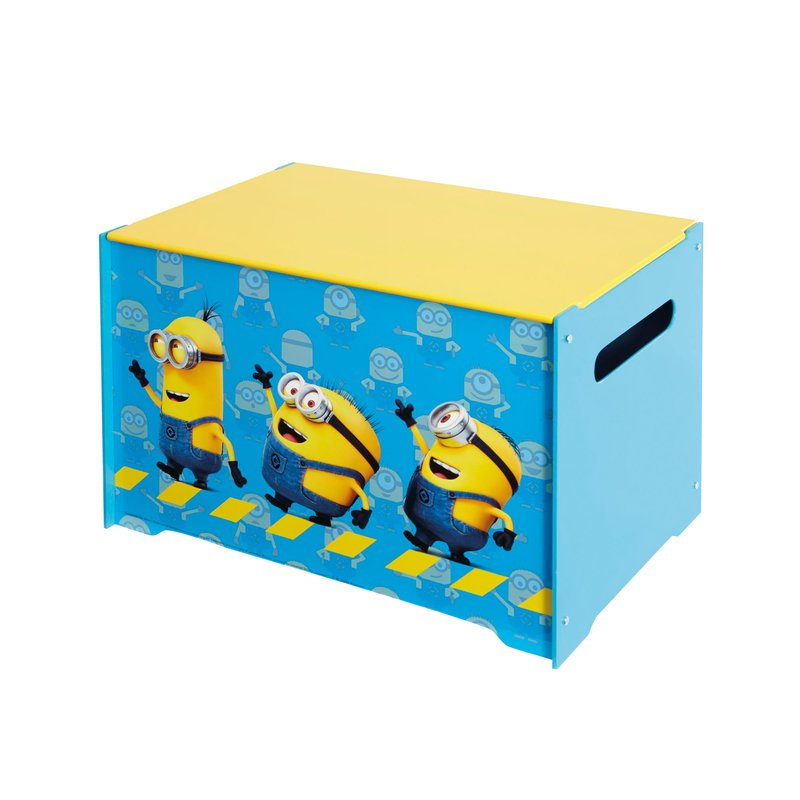 coffre de rangement minions coloris bleu et jaune maison et styles. Black Bedroom Furniture Sets. Home Design Ideas