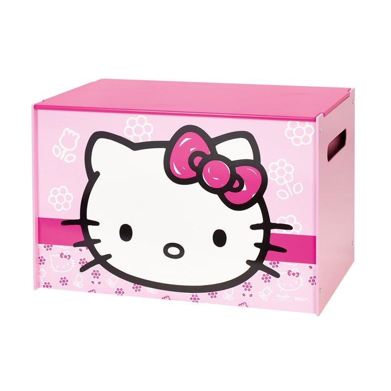 coffre de rangement hello kitty coloris rose maison et styles. Black Bedroom Furniture Sets. Home Design Ideas