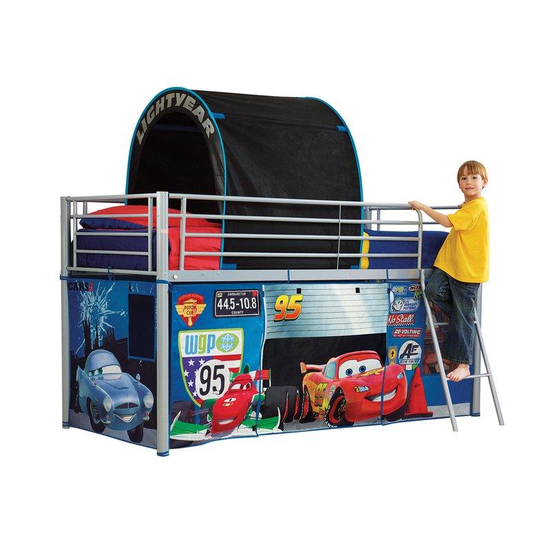 lit mezzanine m tal habillage cars 190x90cm maison et styles. Black Bedroom Furniture Sets. Home Design Ideas