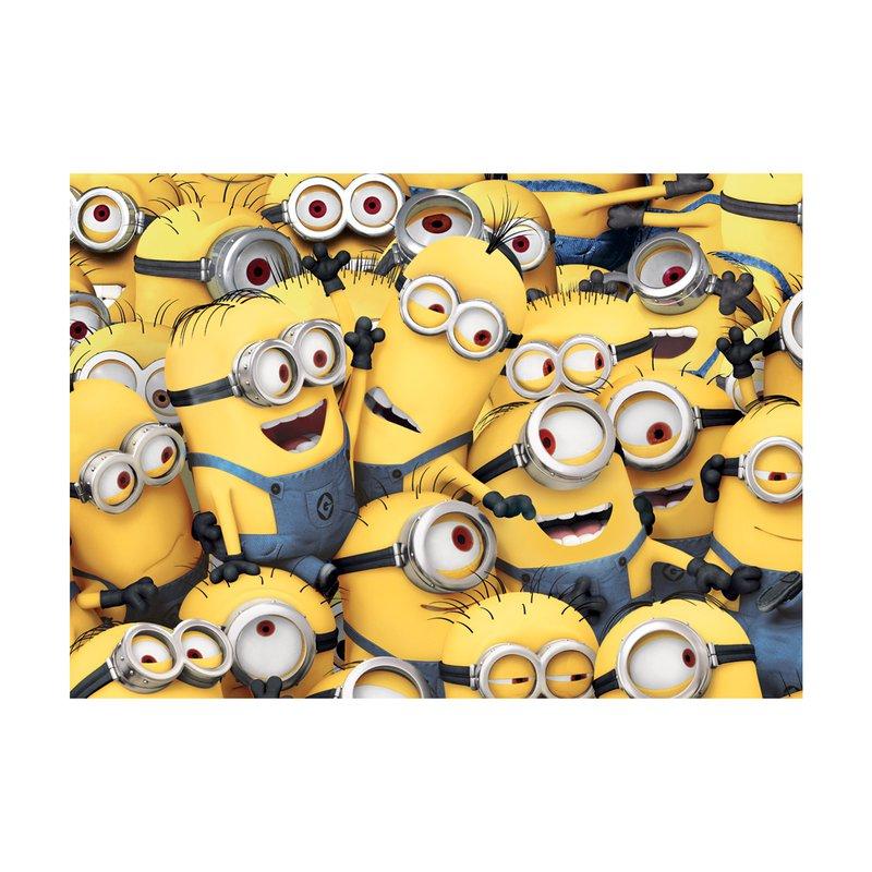 tapis de sol les minions 95x133cm coloris jaune et bleu. Black Bedroom Furniture Sets. Home Design Ideas
