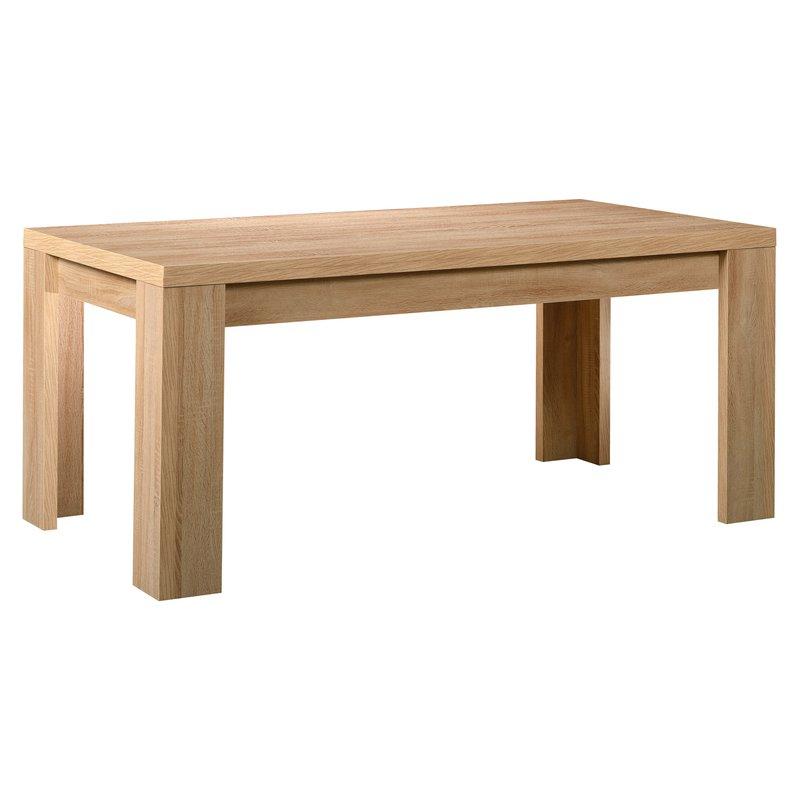Table rectangulaire 180x95x79cm coloris ch ne clair for Table en chene rectangulaire