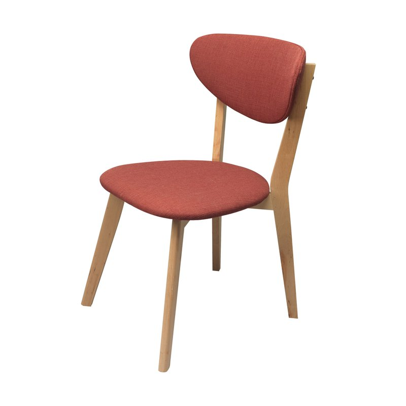 Lot de 2 chaises en bois coloris rouge marsala maison for Chaise bois rouge