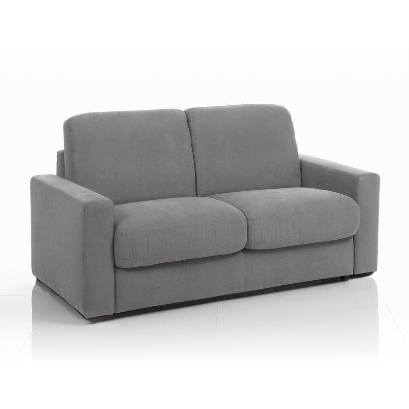 canap convertible 3 places tissu d houssable anthracite maison et styles. Black Bedroom Furniture Sets. Home Design Ideas