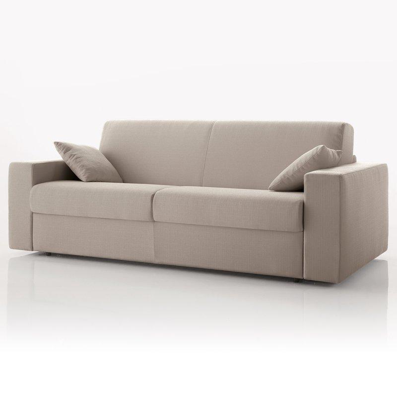 Canapé convertible 3 places maxi, tissu déhoussable - ivoire