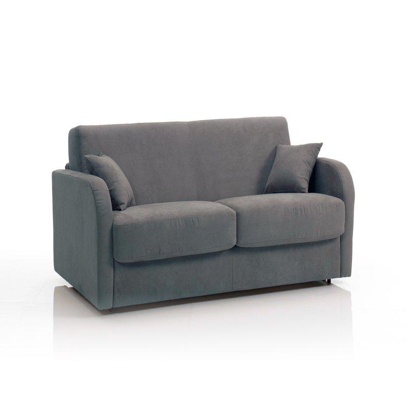 canap convertible 2 places tissu d houssable gris maison et styles. Black Bedroom Furniture Sets. Home Design Ideas