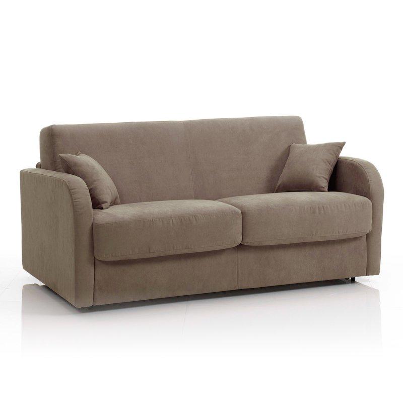 canap convertible 3 places tissu d houssable caf. Black Bedroom Furniture Sets. Home Design Ideas