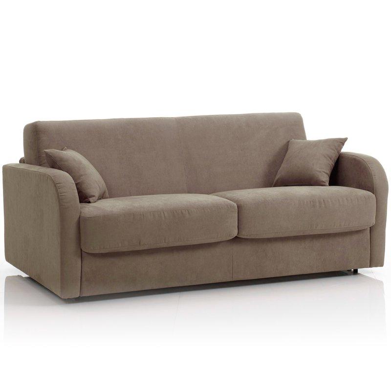 canap convertible 3 places maxi tissu d houssable caf. Black Bedroom Furniture Sets. Home Design Ideas