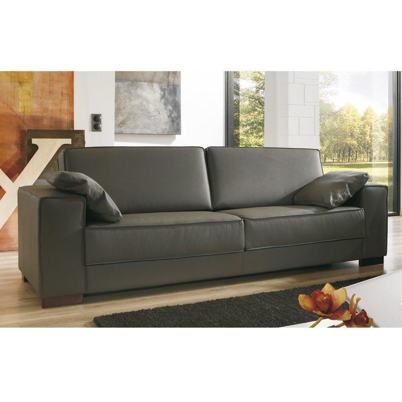 canap 3 places pieds bois avec ses 2 coussins coloris. Black Bedroom Furniture Sets. Home Design Ideas