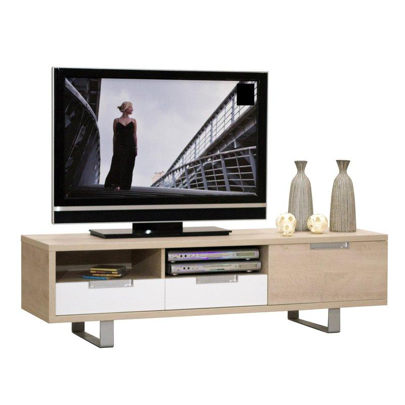 meuble t l 1 porte 2 tiroirs l160xh45xp45cm maison et. Black Bedroom Furniture Sets. Home Design Ideas