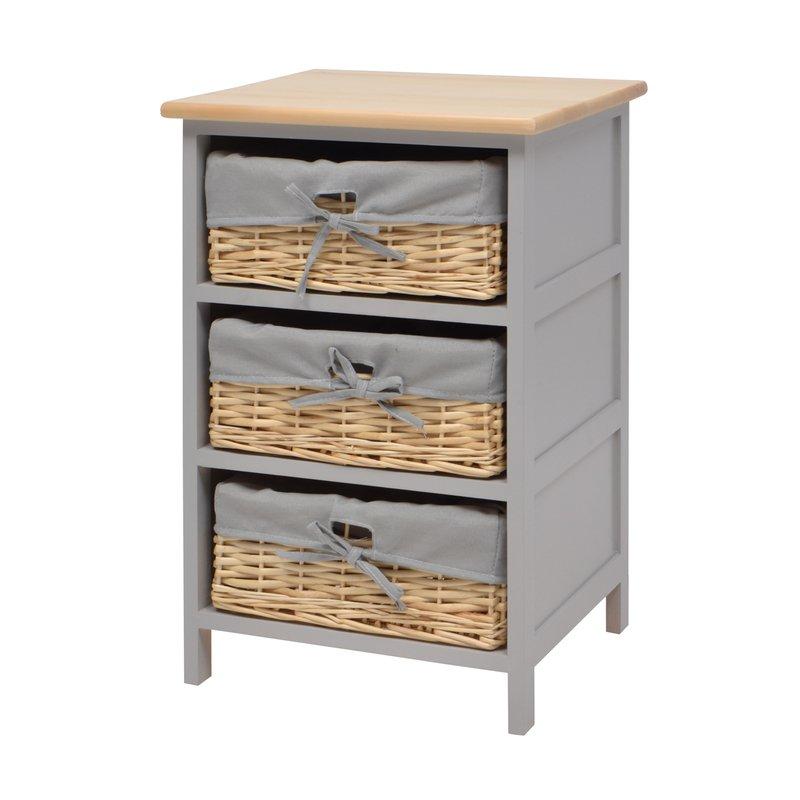 chiffonnier 3 tiroirs l38xp35xh60cm maison et styles. Black Bedroom Furniture Sets. Home Design Ideas