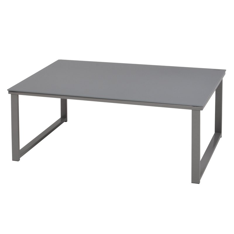 Table basse l80xp50xh32cm en m tal et verre maison et styles - Table basse verre et metal ...