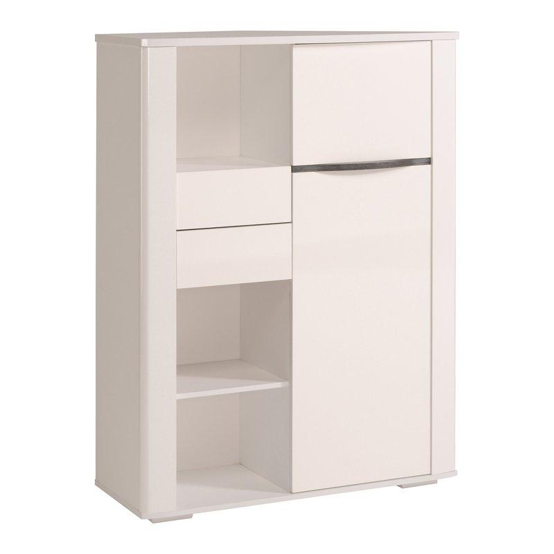 bahut blanc 2 portes 2 tiroirs maison et styles. Black Bedroom Furniture Sets. Home Design Ideas