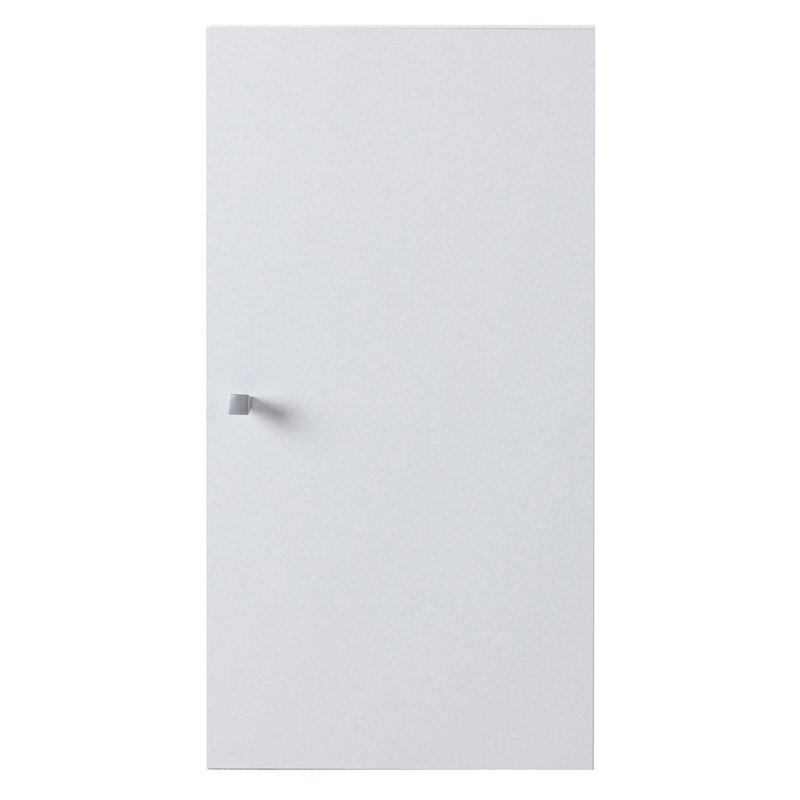Salle de Bain - Meuble haut 1 porte L30xH56xP31cm - blanc photo 1