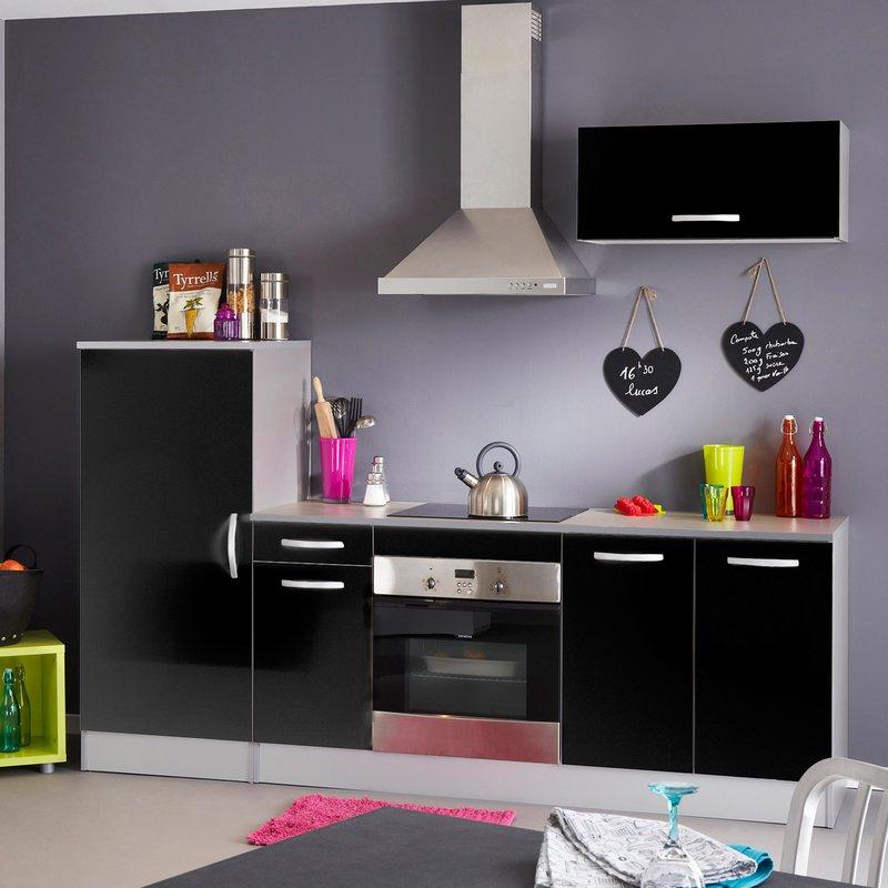 bloc de cuisine finition noir maison et styles. Black Bedroom Furniture Sets. Home Design Ideas
