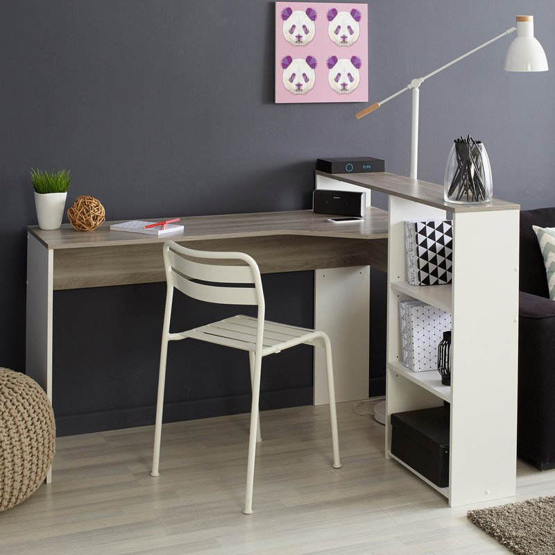 bureau coloris ch ne et blanc maison et styles. Black Bedroom Furniture Sets. Home Design Ideas