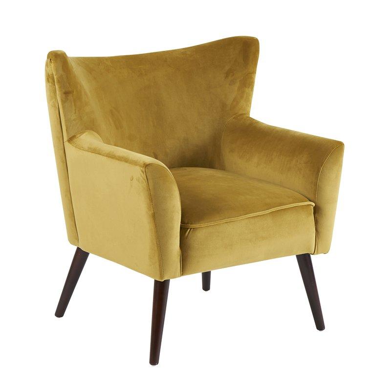 fauteuil wayne velours verveine 70x66x77cm maison et styles. Black Bedroom Furniture Sets. Home Design Ideas
